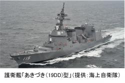 護衛艦「あきづき(19DD)」型(提供:海上自衛隊)